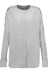 Tibi Winston Wool Shirt Light Gray