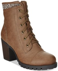 Xoxo Carolla Lace Up Sweater Booties Women's Shoes