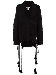 Philosophy Di Lorenzo Serafini Cable Knit Jumper Black