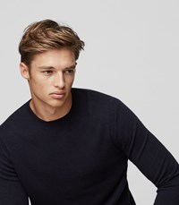 Reiss Charmer Wool And Cashmere Jumper In Blue Mens