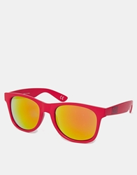 Vans Spicola 4 Sunglasses With Mirrored Lens Redmirrored