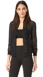 Beyond Yoga So Bomber Jacket Jet Black