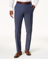 Bar Iii Men's Slim Fit Active Stretch Blue Suit Pants Created For Macy's