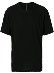 Attachment Round Neck T Shirt Men Cotton Iv Black