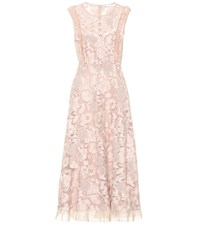 Red Valentino Lace Midi Dress Pink