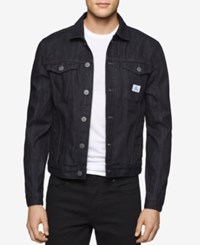 Calvin Klein Jeans Men's Rinse Wash Denim Trucker Jacket