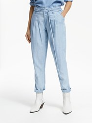 And Or Isabel Lyocell Trousers Pale Blue Wash
