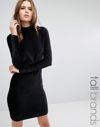 Vero Moda Tall Corduroy High Neck Bodycon Dress Black