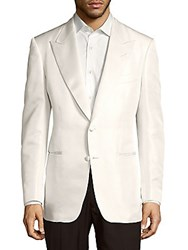 Tom Ford Solid Notch Lapel Jacket White