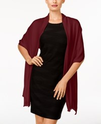 Inc International Concepts Satin Pashmina Wrap Only At Macy's Wine