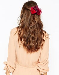 Asos Winter Multiway Hair And Body Corsage Red