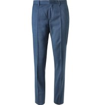Hugo Boss Blue Genius Slim Fit Super 120S Virgin Wool Suit Trousers Blue
