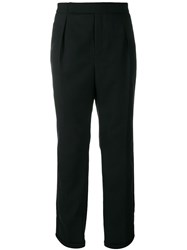 Saint Laurent Tailored Cropped Trousers Black