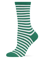 Hot Sox Holiday Striped Socks Kelly Green
