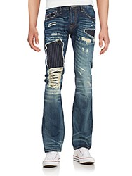 Cult Of Individuality Rebel Distressed Straight Leg Jeans Medium Blue