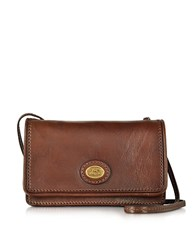The Bridge Story Donna Marrone Leather Crossbody Bag Brown