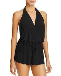 Magicsuit Bianca Halter One Piece Swim Romper Black