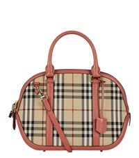 Burberry Small Orchard Horseferry Check Bowling Bag Female Pink