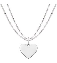 Thomas Sabo Love Bridge Engravable Sterling Silver Plated Heart Necklace