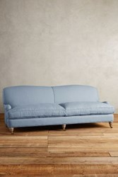 Anthropologie Linen Glenlee Sofa Wilcox Denim