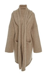 Lauren Manoogian Ecru Capote Knit Coat Tan