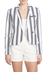 1.State Shrunken Stripe Blazer White