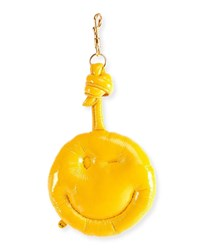 Anya Hindmarch Leather Chubby Wink Charm Yellow