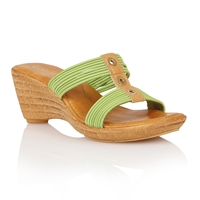 Lotus Verona Wedge Sandals Lime