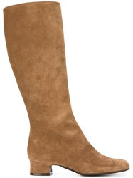 P.A.R.O.S.H. Low Chunky Heel Mid Calf Boots