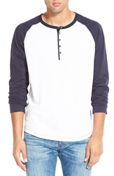 Howe 'Digital Crimes' Long Sleeve Henley White Commodore