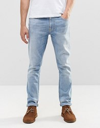 Nudie Jeans Lean Dean Slim Tapered Brine Water Light Wash Brine Water Blue