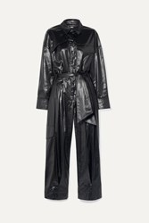 Tibi Belted Shell Jumpsuit Midnight Blue