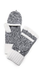 Rag And Bone Francesca Cashmere Texting Mittens Ivory