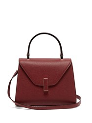 Valextra Iside Mini Grained Leather Bag Burgundy