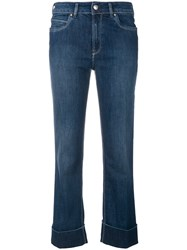 Fay Cropped Stonewashed Jeans Blue