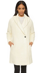 Vince Fuzzy Knit Coat Winter White