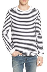 G Star Men's Raw Dhover Waffle Knit Stripe T Shirt