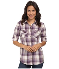 Carhartt Huron Shirt Plum Women's Short Sleeve Button Up Purple