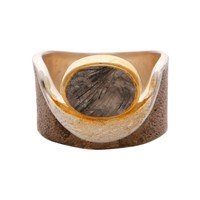 Carousel Jewels Rutile Quartz Gold And Silver Pocket Ring Neutrals
