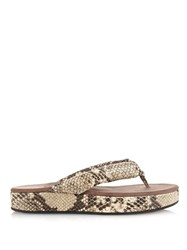 Newbark Beatrice Thong Strap Snake Effect Sandals