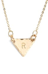 Women's Nashelle 14K Gold Fill Initial Triangle Necklace 14K Gold Fill R