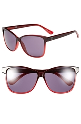Converse 59Mm Retro Sunglasses Red Gradient