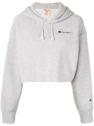 Champion Cropped Sweatshirt Grey