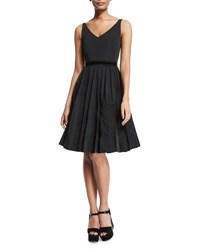 Marc Jacobs Sleeveless Fit And Flare Dress Black