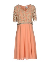 Cinzia Rocca Knee Length Dresses Salmon Pink
