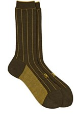 Antipast Women's Striped Mid Calf Socks Dark Green