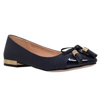 Miss Kg Meena Flat Ballet Pumps Navy