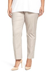 Nic Zoe Plus Size Women's Perfect Side Zip Ankle Pants
