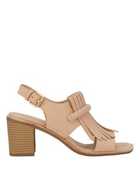 G.H. Bass Leather Dress Sandals Pink