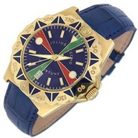 Julius Legend Sea Fortune 18K Gold And Leather Watch